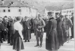Carlo a Caporetto nel 1918