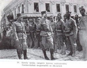 Carlo a Czernowitz nel 1917