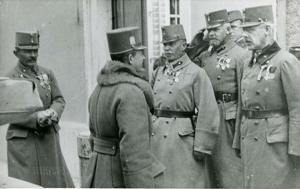 Il Beato Carlo con il col. Theodor Koerner (poi vicino al presidente della Germania)