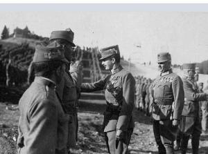 Presso Folgaria, con i suoi Kaiserschuetzen